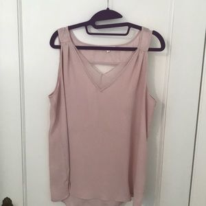 Open back tank blouse